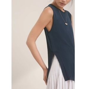 Wilfred Aritzia Palmier Blue Sleeveless Knit Top